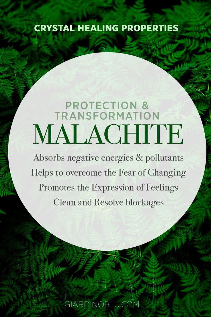 Green Malachite meaning charts | How to wear Malachite Healing jewelry to relieve stress, overcome the fear of changing, promote feelings expression and protect your aura. Go to giardinoblu.com to shop your custom Gemstone Ring, necklace, or bracelet With