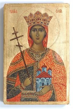 ST. OLGA OF KIEV - Orthodox Icons in Byzantine Style Painted by Marchela Dimitrova | Eastern Saints