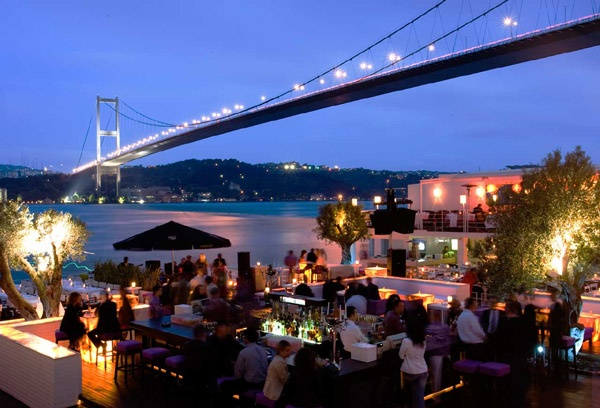 Baris' favorite summer club in Istanbul: Reina.  Note to self - go here!