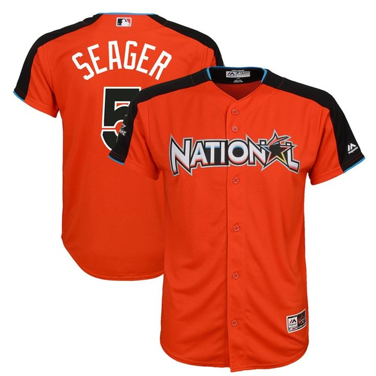 2017 All-Star Corey Seager #5 National League Orange Youth Home Run Derby Jersey