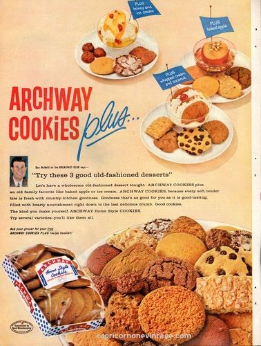 Vintage 1959 Archway Cookies Magazine Ad Mid Century Advertising Retro Kitchen Decor, $8.00