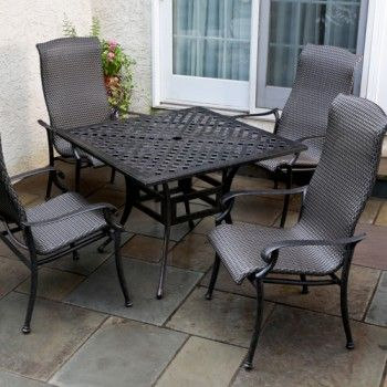 Alfresco Home Hemingway All Weather Wicker 5 Piece Dining Set  Only   1 829 00 FREE Shipping 215 best Patio Furniture images on Pinterest   Outdoor cushions  . Outdoor Dining Chairs Only. Home Design Ideas