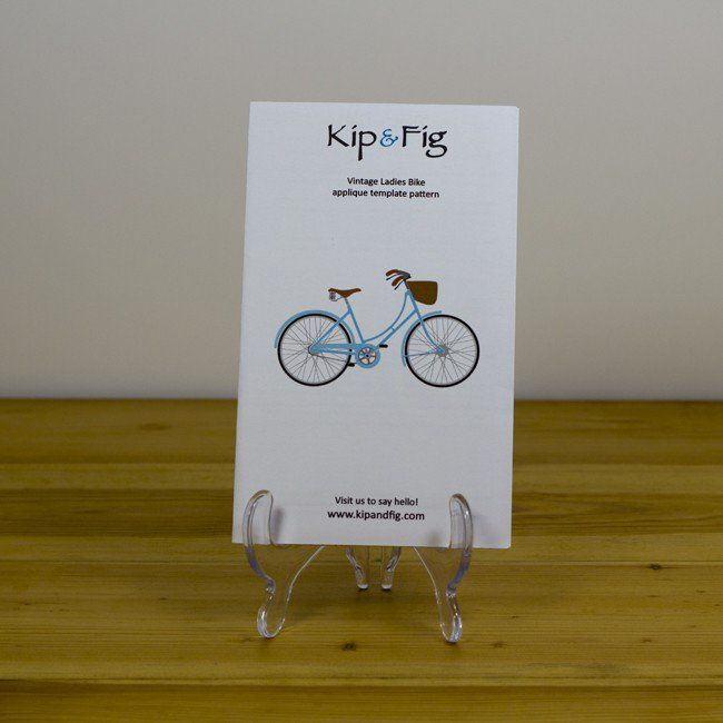 Kip and Fig - Vintage Ladies Bike Applique Template