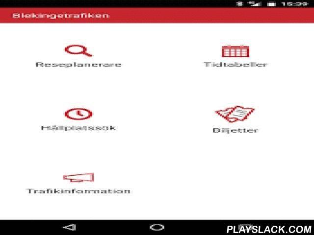 Blekingetrafiken  Android App - playslack.com ,  Detta är Reseplaneraren, Blekingetrafikens officiella app för att söka resor och köpa biljetter. Appen publiceras av Forsler & Stjerna konsult på uppdrag av Blekingetrafiken.Reseplaneraren är din personliga tjänst för att köpa och planera resor i Blekinge samt till och från angränsande län. Här kan du köpa enkelbiljetter för buss och tåg (Öresundståg, Pågatåg och Krösatåg).Betalning görs med kort utfärdade av Visa eller MasterCard.Du…