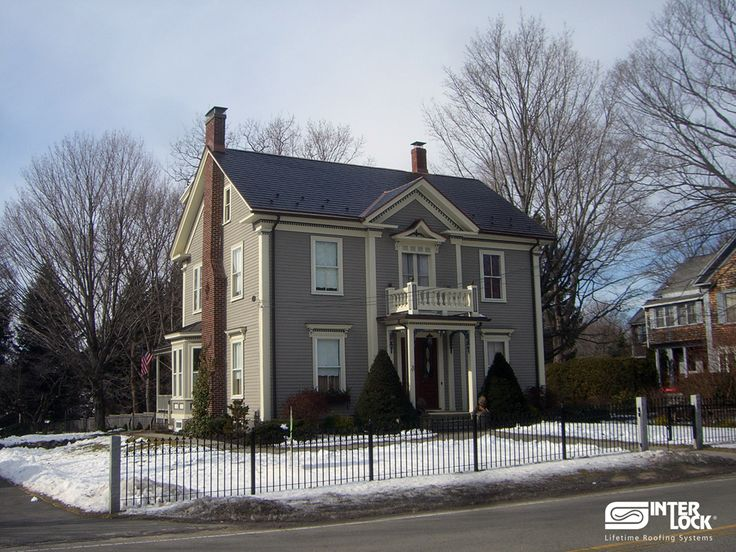 Black Interlock Shingle Roof From New England. Installed By Interlock  Industries, Inc. Www