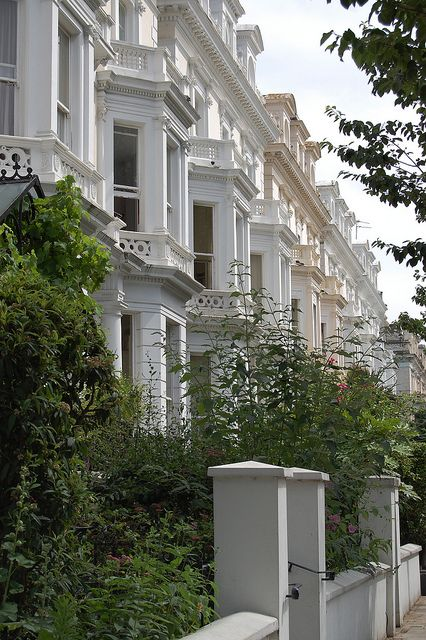 The amazing victorian terraced houses of Notting Hill.