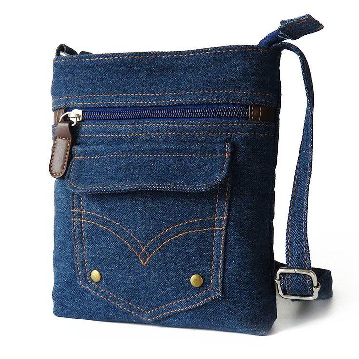 Мода Дизайн Женщины Blue Jeans мешок плеча повелительниц мешка посыльного новизны Crossbody сумки для женщин Кошелек сумка JXY280