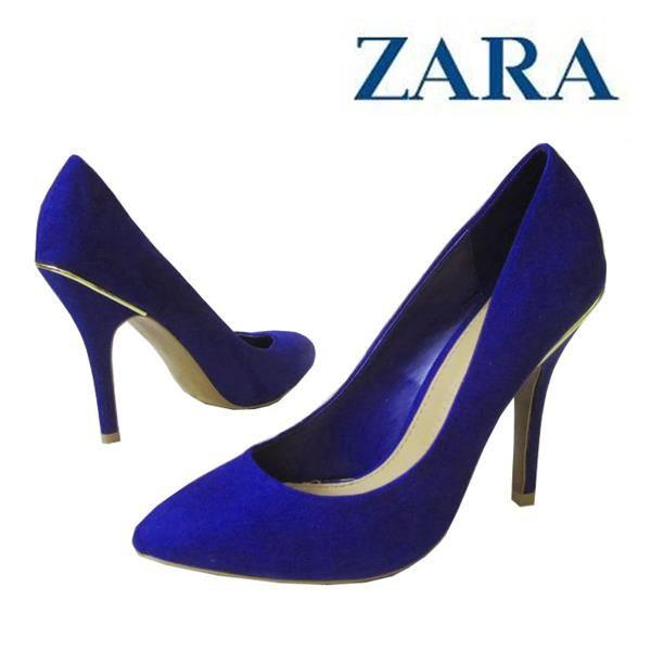 Элегантные синие туфли