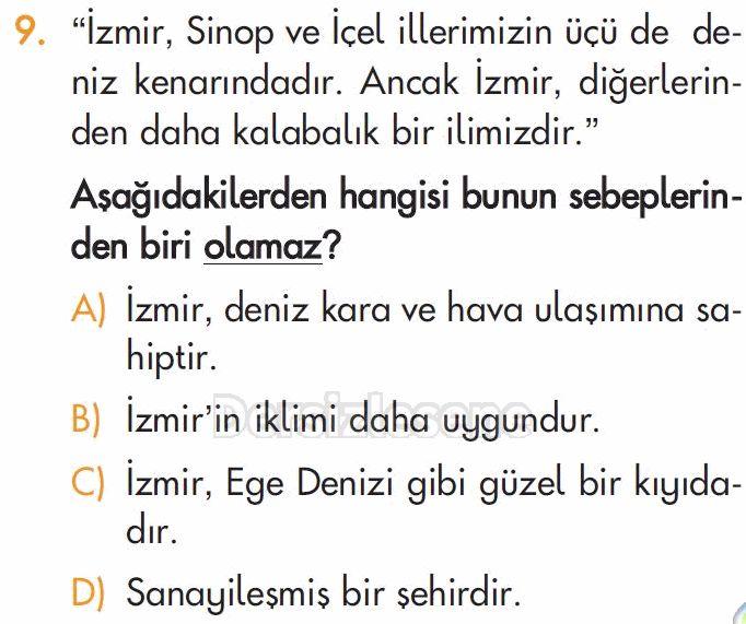 İlköğretim 5. Sınıf Sosyal Bilgiler Testleri Bölgemizi Tanıyalım 3 testleri çöz, İlköğretim 5. Sınıf Sosyal Bilgiler Testleri Bölgemizi Tanıyalım 3 testi çöz