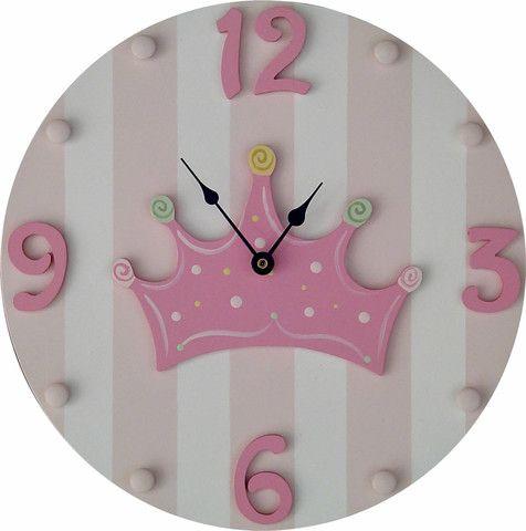 Princess Crown Wall Clock | Jack and Jill Boutique