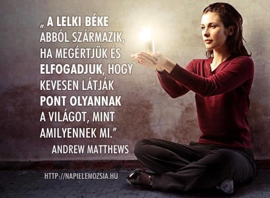 Andrew Matthews idézete a megértésről és elfogadásról. A kép forrása: napielemozsia.hu