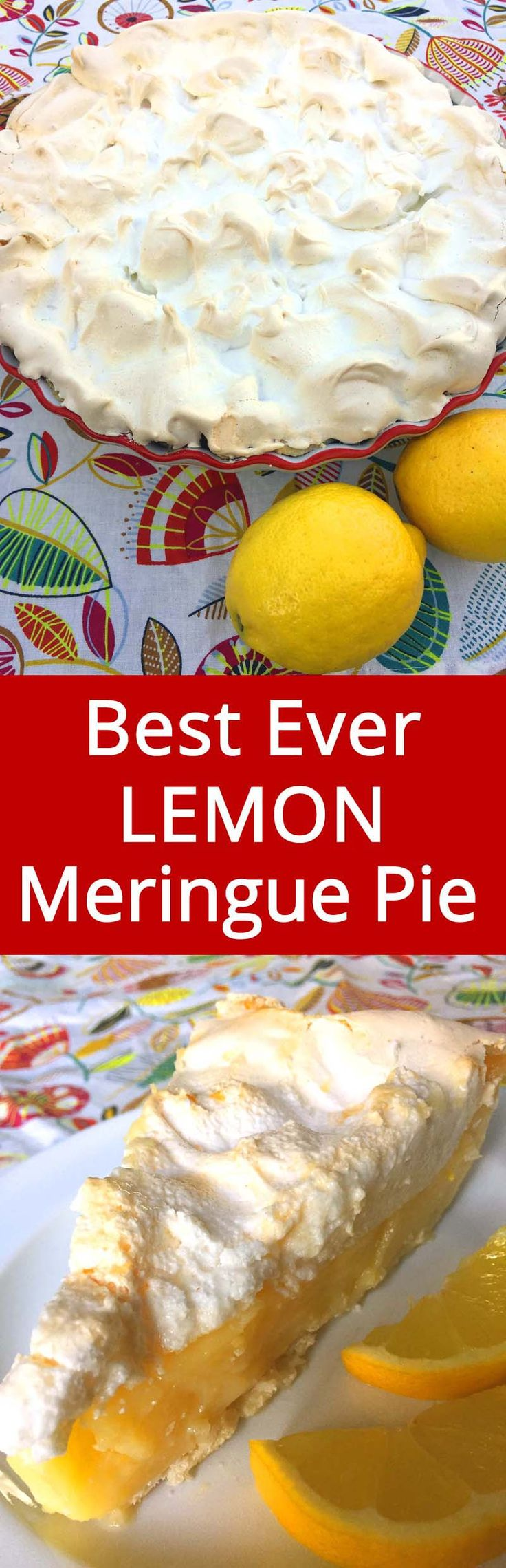 This lemon meringue pie recipe is amazing! Everyone begs me to make this pie every time!