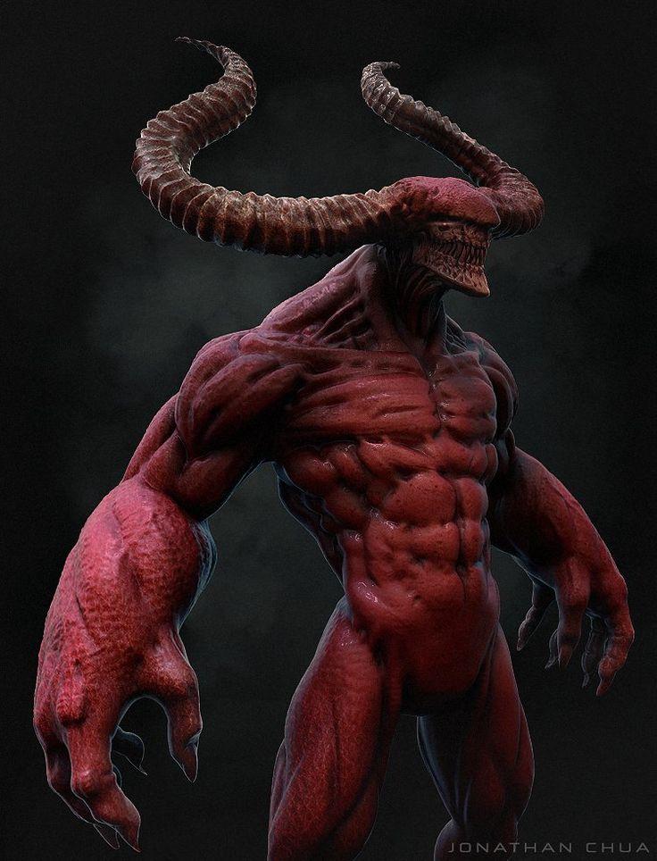 ArtStation - Demon, Jonathan Chua