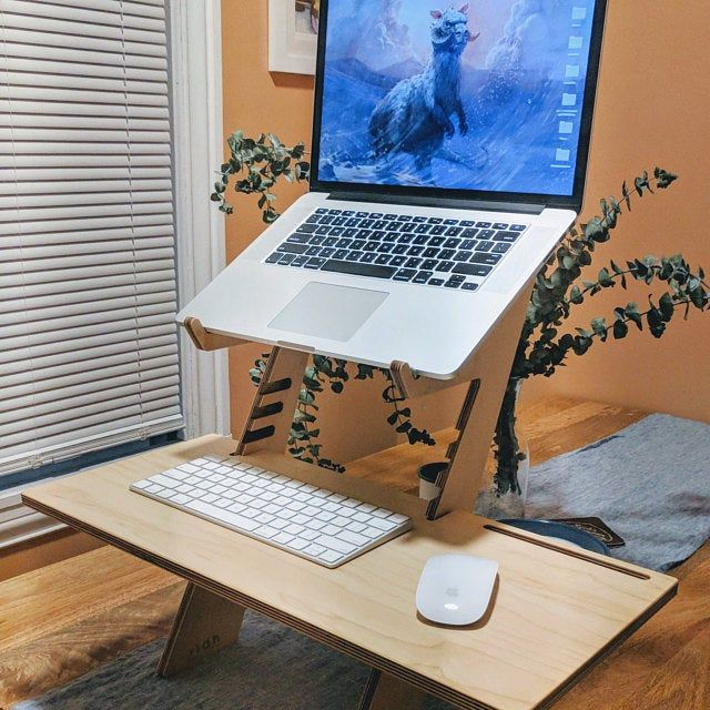 Laptop Stand Wood Laptop Stand Mac Book Stand Wood Laptop