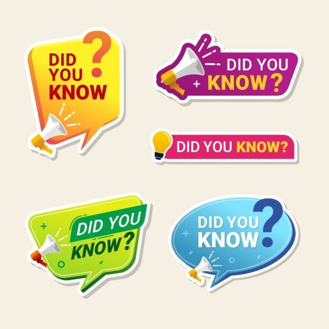 Did You Know Label Banner Sticker With Speech Bubble Label Tag Sticker Png And Vector With Transparent Background For Free Download Banner Labels Poster Text