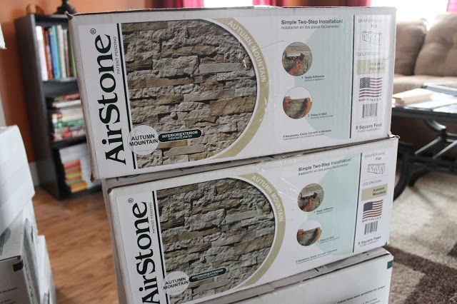 DIY Stone Accent Wall