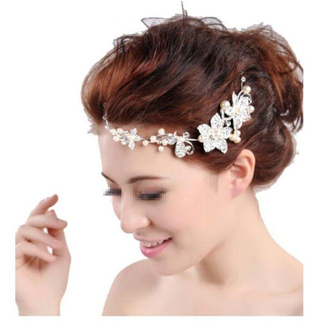 Bruiloft Haaraccessoires Zilver-tone Bloem Bridal Parel Sieraden Kam Haarspelden Bridal Accessoires 363003