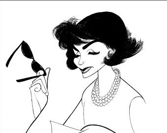"AL HIRSCHFELD'S ""Jackie, An American Life,"" Hand Signed by Al Hirschfeld, C of A, Ltd Ed, Portrayed by Margaret Colin"