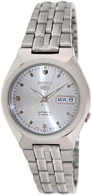 Seiko 5 Automatic Silver Dial Stainless Steel Ladies Watch SNKL67