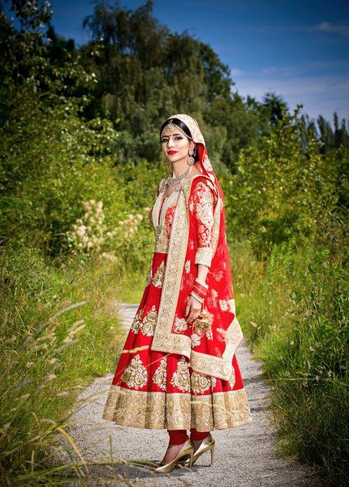 Beautiful red bridal anarkali
