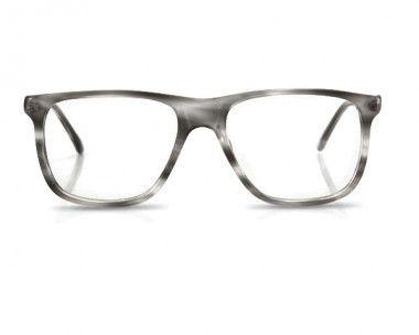 Uomo 'Edwards', Vintage Brillengestell in grau, Brille für Männer, Brillenfassung Herren grau Acetat als Muster bestellen, versandkostenfrei