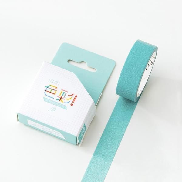 Royal Teal Solid Color Washi Tape 15mmx7m