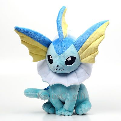 S542 Pokemon Plush Soft Doll Toys Pikachu Vaporeon 13"