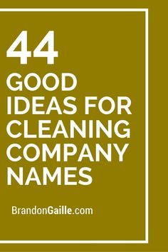 Creative house cleaning names