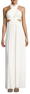 Rachel Pally Naeva Solid Halter Maxi Dress