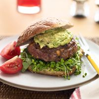 Inside-Out Burgers with Avocado and Sprouts