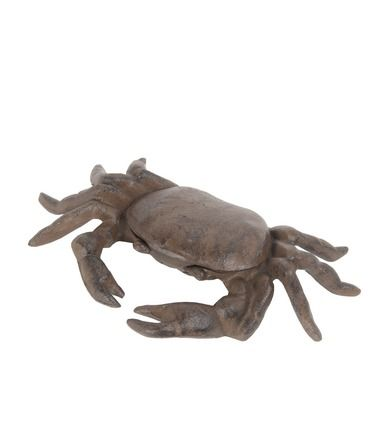 Rust Brown Finish Cast Iron Crab Statue 9 1/2 Inches Long