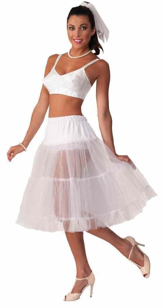 6850704e1292 Crinoline Skirt Poodle Petticoat 50 s Halloween Adult Costume Accessory 3  Colors
