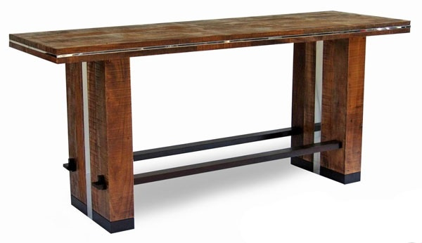 Urban rustic collection dining table design 3 bar for Counter height dining table