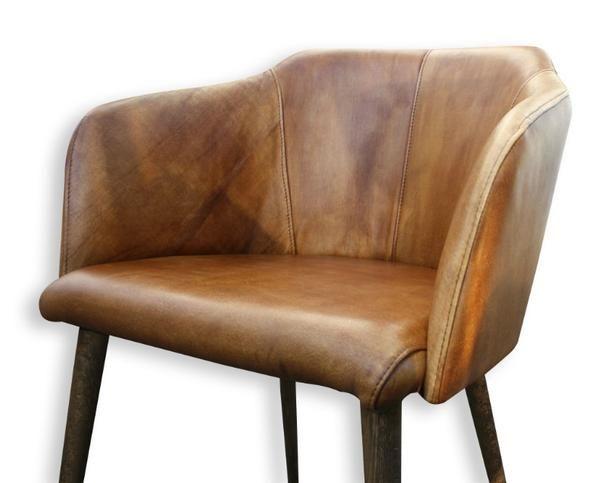 Lederstuhl Mit Armlehne Lederstuhle Stuhle Leder