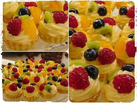 Ovocné košíčky s odlehčeným vanilkovým krémem. Autor: Baruška