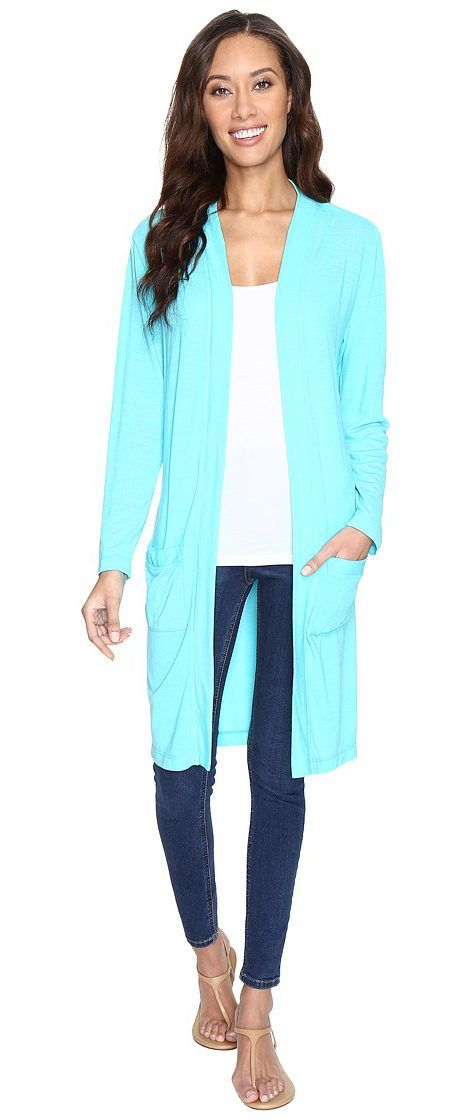Fresh Produce Boardwalk Cardigan (Luna Turquoise) Women's Sweater - Fresh Produce, Boardwalk Cardigan, ALSBWCD-Z-444, Apparel Top Sweater, Sweater, Top, Apparel, Clothes Clothing, Gift - Outfit Ideas And Street Style 2017