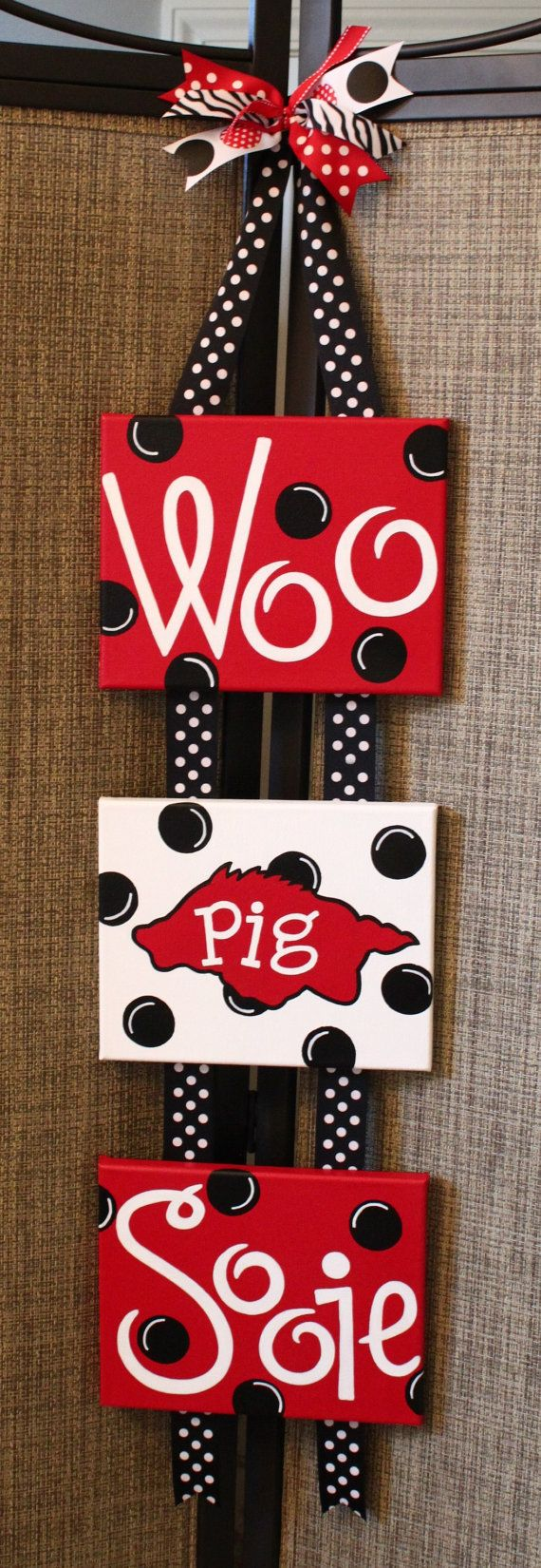 Items similar to Arkansas Razorback Wall Hanging on Etsy-- maybe I need one of these instead of a wreathe for the front door!