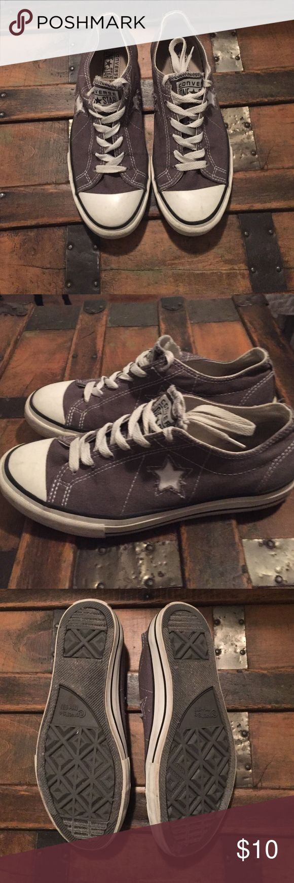 Converse One Star Tennis Shoes Gray Women's size 8.5. Bought from Target Converse One Star Shoes Sneakers