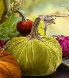 Sumptuous Chartreuse Silk Velvet Pumpkin - 8