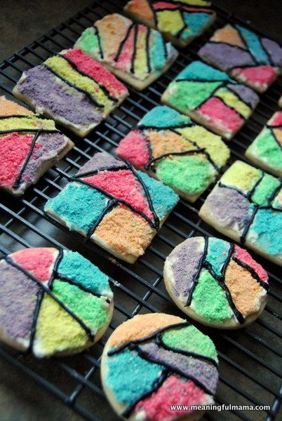 Meaningful Mama: Day #258 - Froot Loop Mosaic Cookies. These are AWESOME!!!