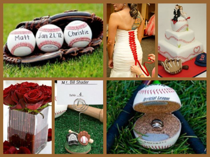 Baseball wedding theme...a bit much but totally love it!