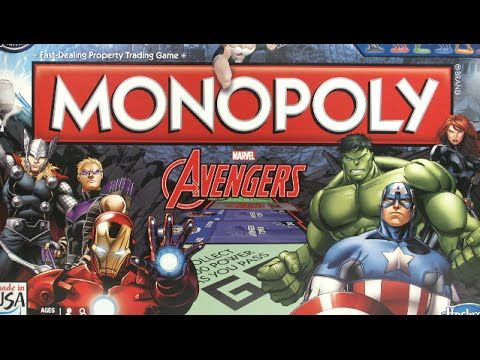 Monopoly Board Games Marvel Avengers Edition Christmas Family Kids Great Gift in Toys & Games, Games, Board & Traditional Games | eBay