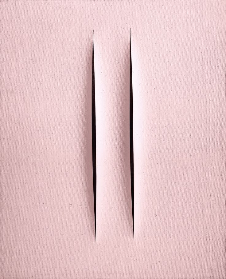 Lucio Fontana - Concetto Spaziale-Attese, 1968, waterspaint on canvas