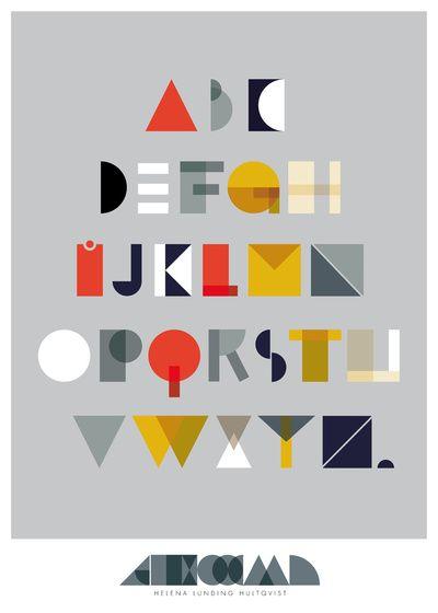 Geo Alphabet Art Print