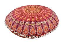 "Mandala Round Floor Pillow Cases 32"" Large Throw Cushion Cover Poufs with Insert"