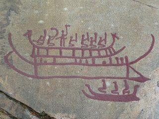 Rock art of bronze Age Boats.