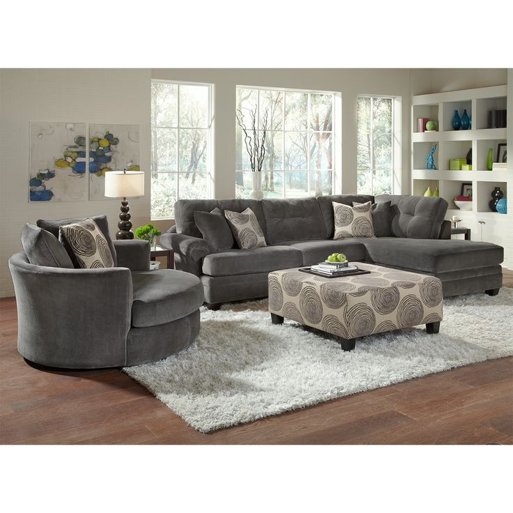Catalina Gray Upholstery 2 Pc. Sectional | Furniture.com