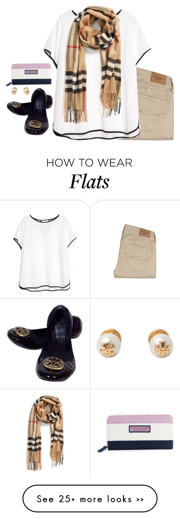 """free FALLIN"" by conleighh on Polyvore featuring Abercrombie & Fitch, Violeta by Mango, Tory Burch, Burberry and Vineyard Vines"