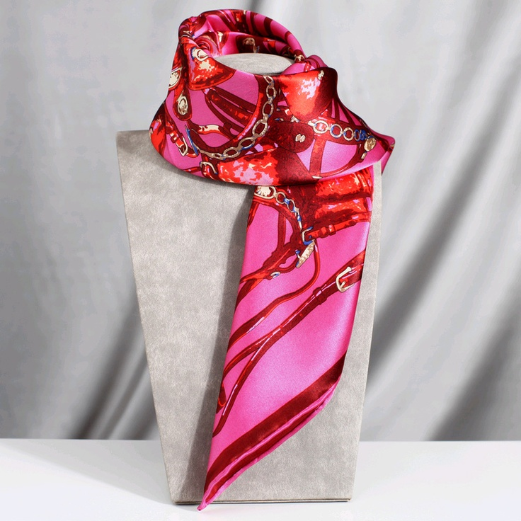 Ture Silk Square Scraf scarves With Plain Crepe Satin