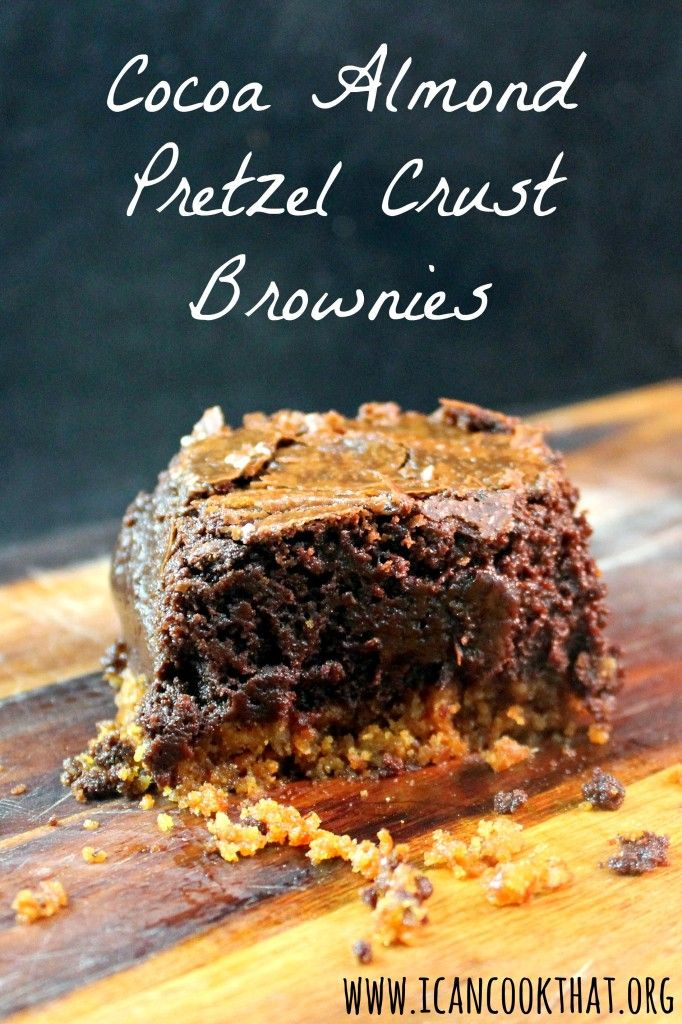 {Giveaway} Cocoa Almond Pretzel Crust Brownies